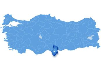 Map of Turkey, Hatay