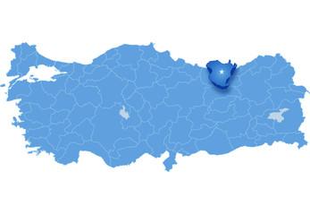 Map of Turkey, Gumushane