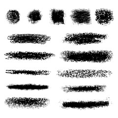 Vector chalk lines or brushes. Vector design elements.