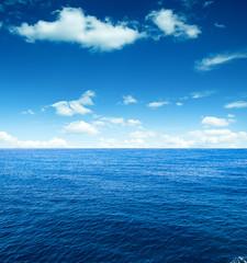 Cloudy sky and sea. Sea summer shot