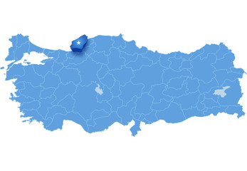 Map of Turkey, Zonguldak