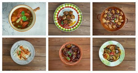 Food set .Greek cuisine.