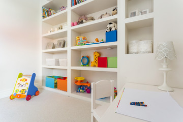 Cozy children's desk