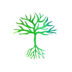 abstract tree polygonal