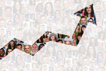 Wachstum mit Erfolg oder erfolgreich Strategie im Business Mensc