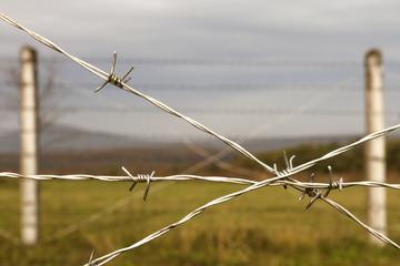 Zaun Grenze