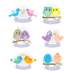 bird cartoon labels