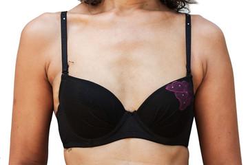 Small-breasted women wearing underwear