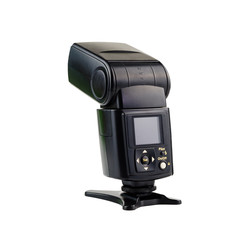 Camera flash speed light isolated on white background