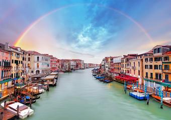 Spoed Fotobehang Venetie Grand Canal - Venice from Rialto bridge