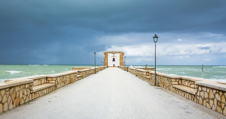 harbor and waterfront in Trapani, Sicily