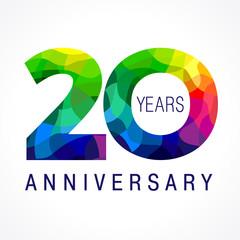 20 anniversary color logo