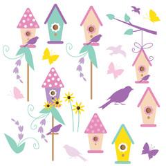 Birdhouse vector illustration