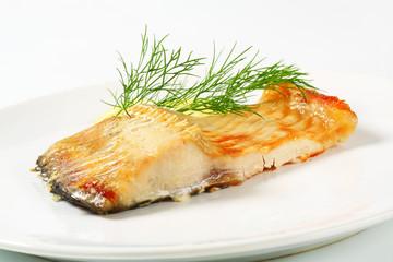 Oven baked carp fillet
