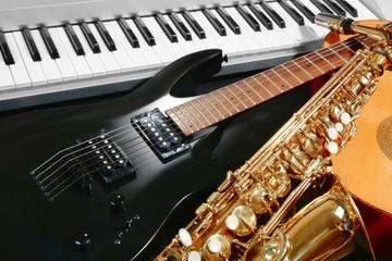 Musical instruments, closeup
