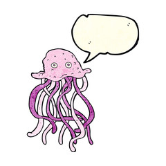cartoon octopus with speech bubble
