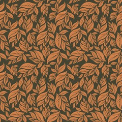 Orange Leafs Pattern