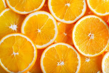 Oranges slices background