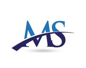 MS Logo Letter Swoosh