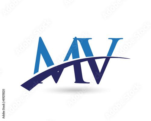 quot mv logo letter swoosh quot  stock image and royalty free Vector Swoosh Free Clip Art free swoosh vectors
