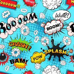 Seamless pattern comic speech bubbles illustration