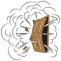 Vector illustration. Boom. Comic book explosion.