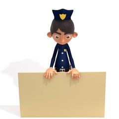 Policeman 3d illustration