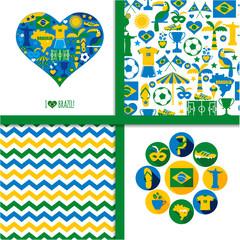 Brazil background set.