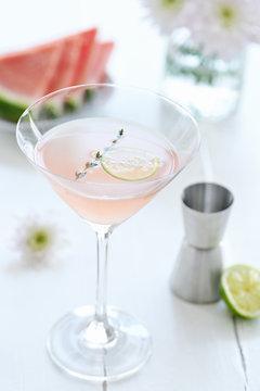 A delicious watermelon cocktail