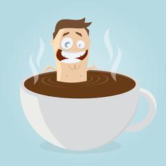 kaffeepause kaffee baden mann
