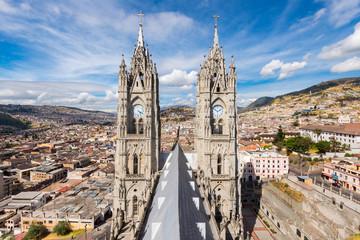 Basilica del Voto Nacional in Quito, Ecuador