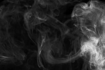 Garden Poster Smoke Abstract smoke on black background