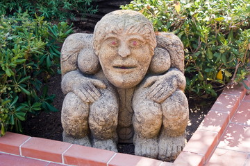 Stone monster with four legs