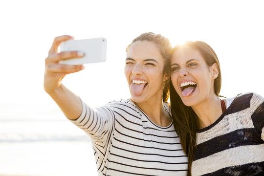 Best friends taking a selfie