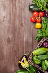 Fresh farmers garden vegetables