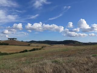 campagna, nuvole