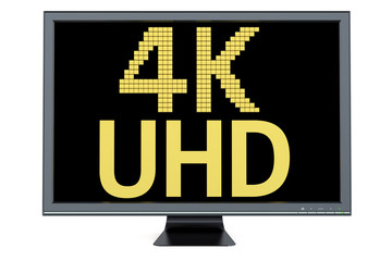 4K Ultra HD concept on television display