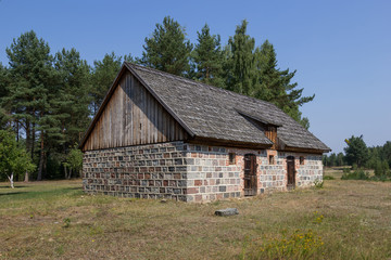 The historic stone barn