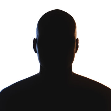 Unknown male person silhouette.