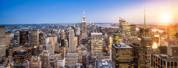 Fototapete - Manhattan New York Skyline Panorama