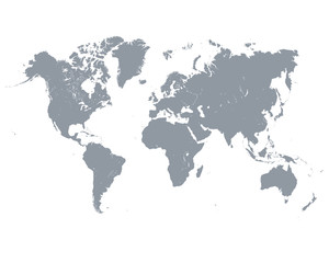 Vector illustration of black world map