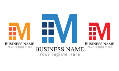 M Block Logo Business