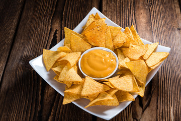Portion of Nachos (with Cheese Dip)
