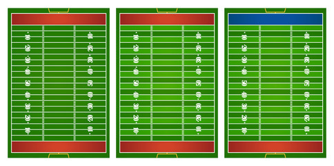 Football field in three design