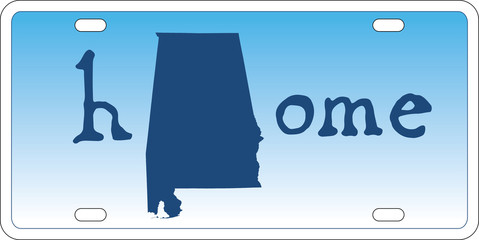 Alabama state license plate vector