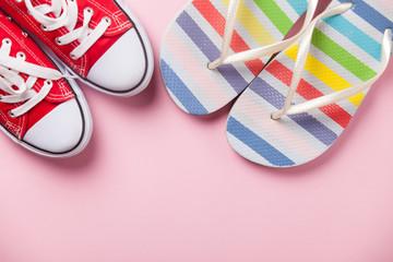 Gumshoes and flip flops