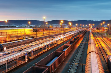 Train freight - Cargo railroad industry