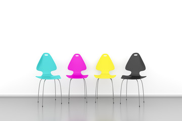 CMYK chairs