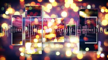 music equalizer festive background