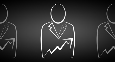 Businessman icon illustration